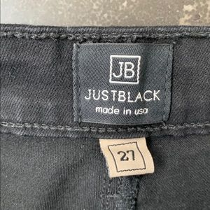 Just Black Jeans - Just Black high waisted black skinny jean size 27
